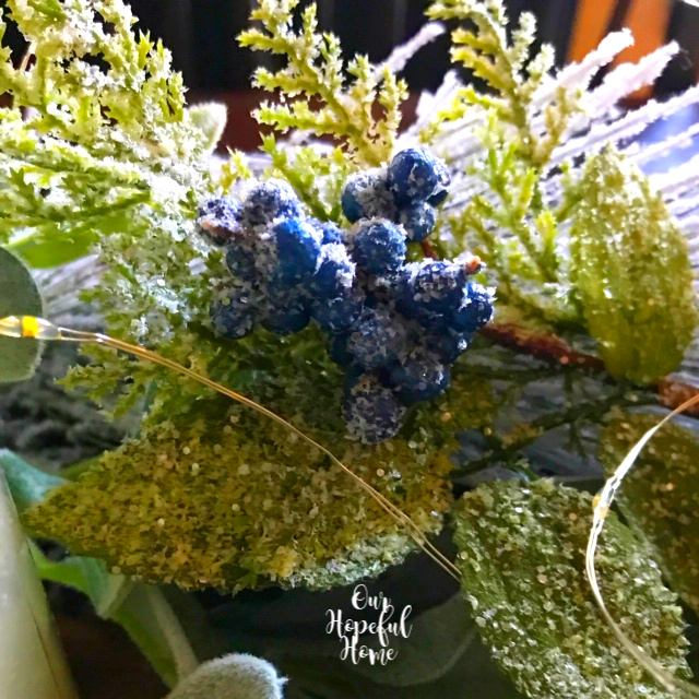 faux blue juniper berries