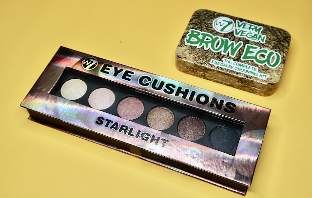 W7 Eye Cushions Eyeshadow Palette and Brow Eco Eyebrow Kit review morena filipina beauty blog