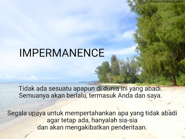 filosofi agama buddha tentang impermanens