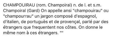 chapurriau, Mistral