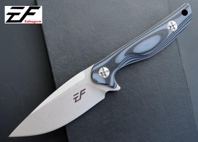 มีดใบตาย Eafengrow รุ่น EF 108 ด้ามสีฟ้า-ดำ