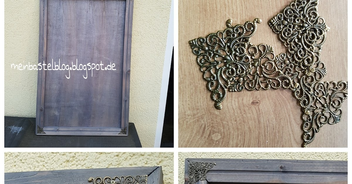 mein bastelblog rahmen aus holz grau gebeizt antiklook shabby. Black Bedroom Furniture Sets. Home Design Ideas
