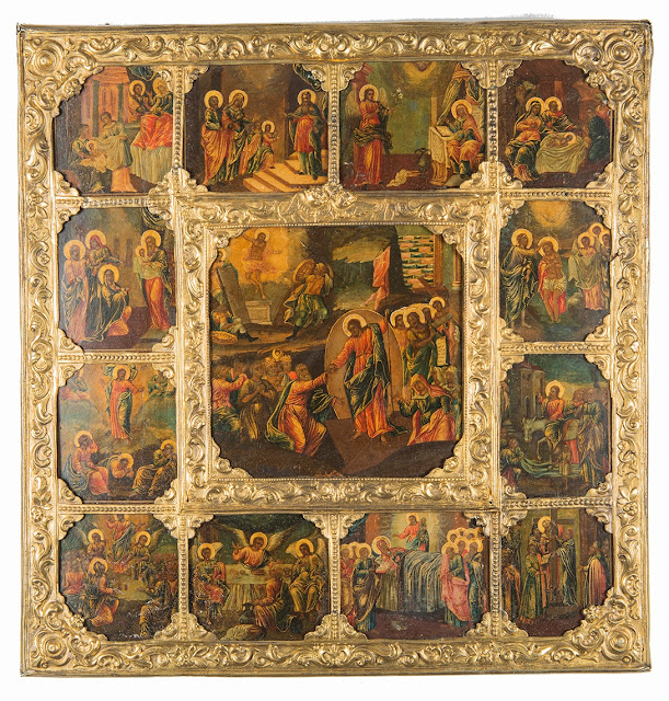 Unique Russian Icon of The Resurrection – The Harrowing of Hades