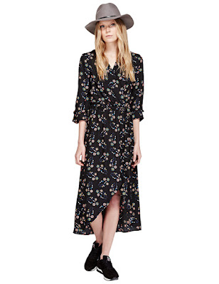 Marks and Spencer V Neck Floral Maxi Dress