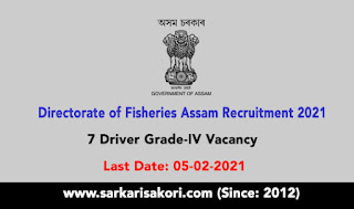 Directorate of Fisheries Assam Recruitment 2021