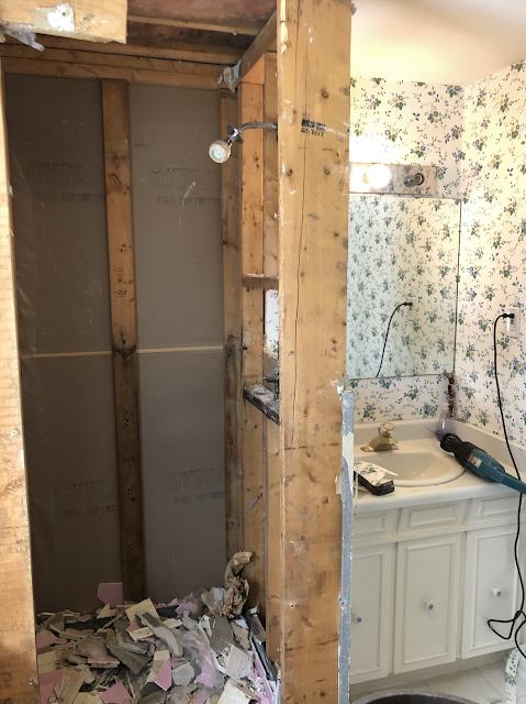 Bathroom Renovation with a DIY Towel Ring Holder