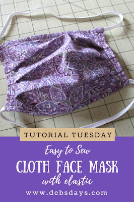 Easy to Sew Cloth Fabric Face Mask Project for People with One Hand