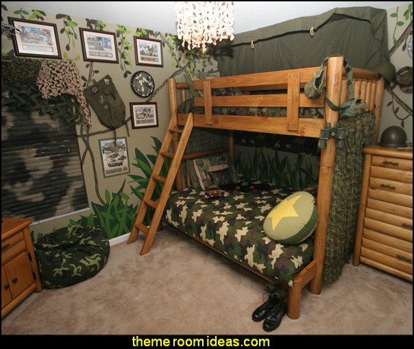 Decorating theme bedrooms maries manor army theme for Army decoration ideas