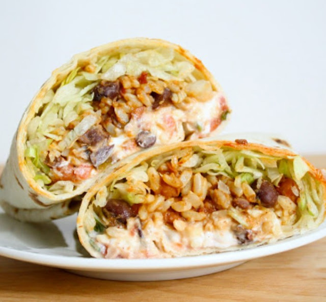 Vegan Burrito #vegetarian #lunch