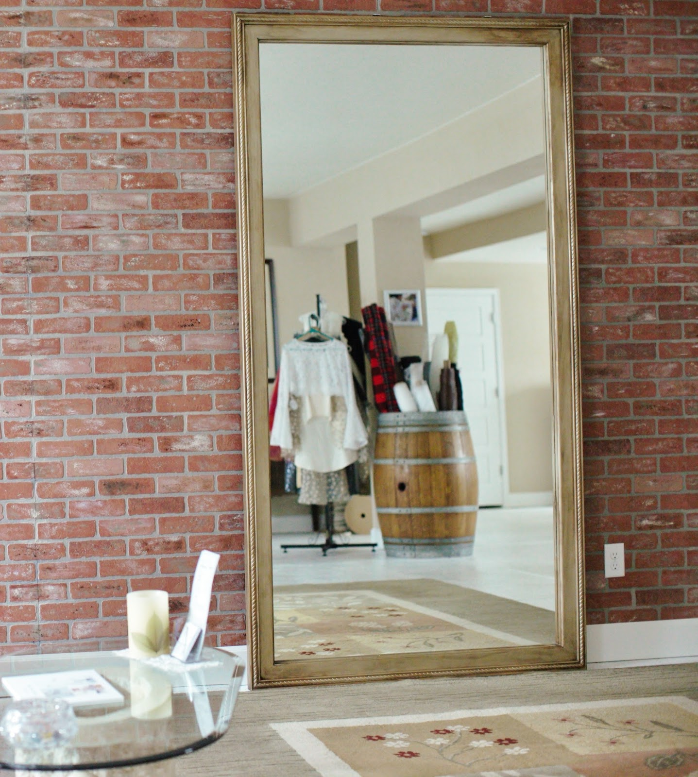 His, Hers and Ours DIY: FULL LENGTH MIRROR