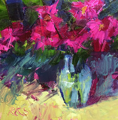 http://www.ebay.com/itm/Roxanne-Steed-ORIGINAL-Oil-Painting-Palette-Knife-Pink-Zinnias-Floral-Art-/131961422581?