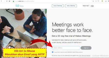 Langkah Membuat Akun di Cisco Webex