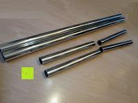 Rohre verschiedene Längen: Doppelkleiderständer mit zwei Kleiderstangen Kleiderständer auf Rollen