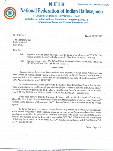 7th cpc payment of ota on the basis of 7cpc pay matrix wef 1 1 source nfir to download signed letter click here altavistaventures Gallery