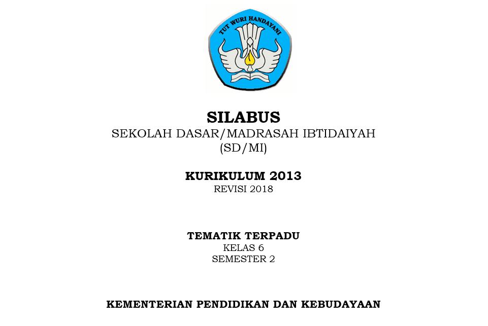 Silabus Kelas 6 Sd Kurikulum 2013 Revisi Tahun 2020 Sch Paperplane