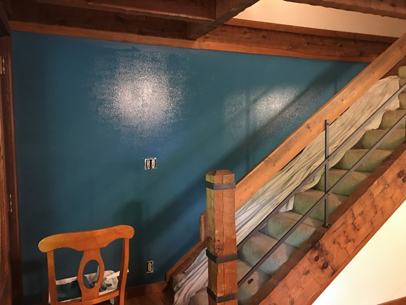 log-home-turquoise-wall-sherwin-williams-great-falls