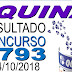 Resultado da Quina concurso 4793 (04/10/2018)
