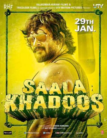 Poster Of Saala Khadoos 2016 Hindi 300MB BRRip 480p ESubs Watch Online Free Download Worldfree4u