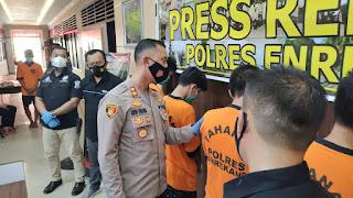 Kapolres Enrekang Press Release Ungkap Komplotan pencurian Sarang Burung Walet
