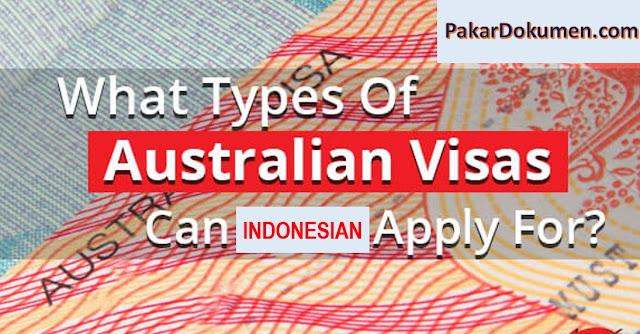 jenis tipe visa australia