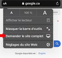 Accès à la page d'accueil de Google Recherche Ordinateur
