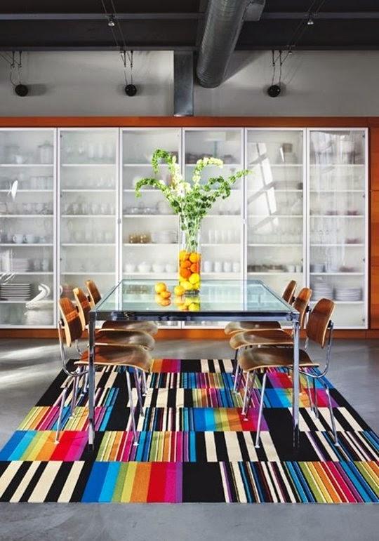 Muebles de comedor decorar un comedor con alfombras for Alfombra colores