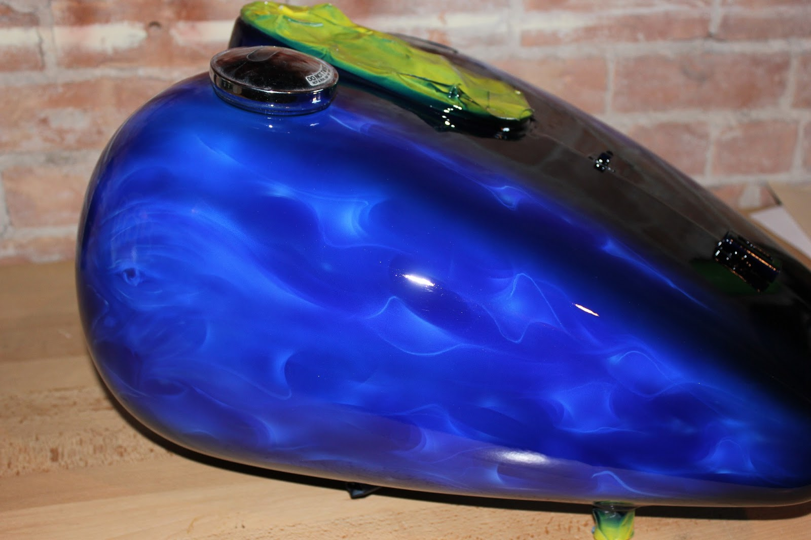 Online Motorcycle Paint Shop Black Base With Cobalt Blue
