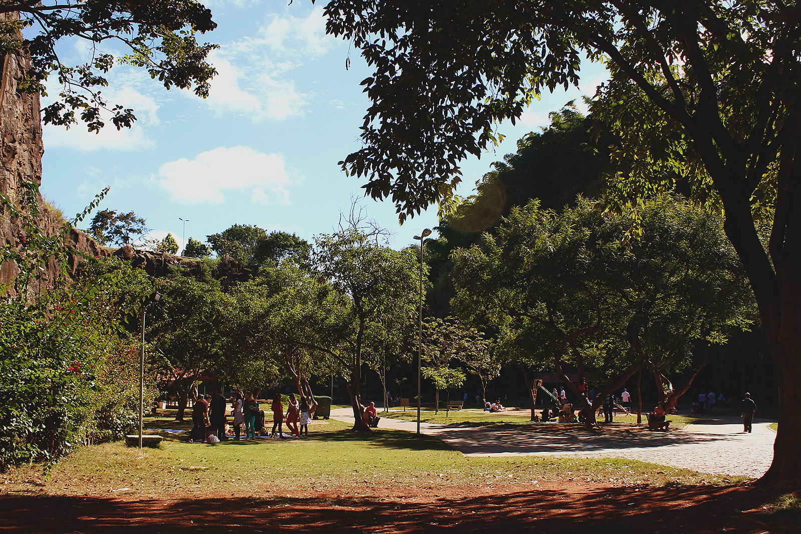 parque movimentado