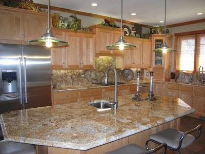 Desain Meja Dapur Dari Granit Modern Untuk Rumah Minimalis 1