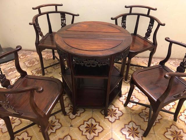 bàn ghế gỗ trắc đỏ