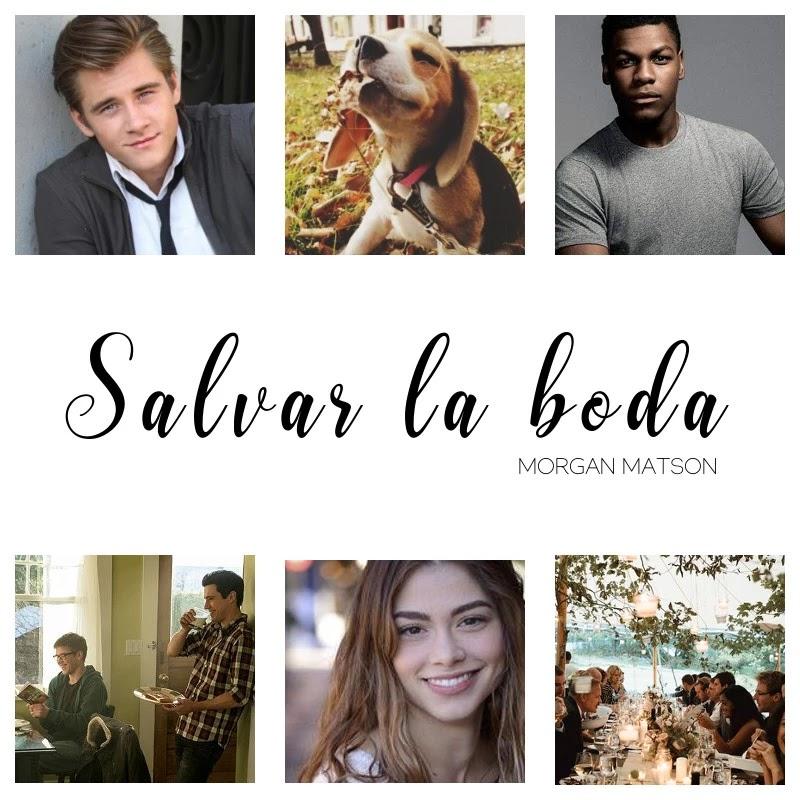 Collage propio del libro Salvar la boda de la autora Morgan Matson