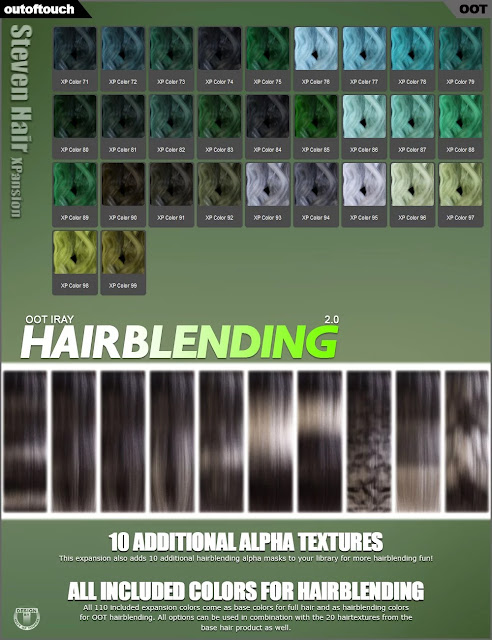 OOT Hairblending 2.0 Texture XPansion for Steven Hair