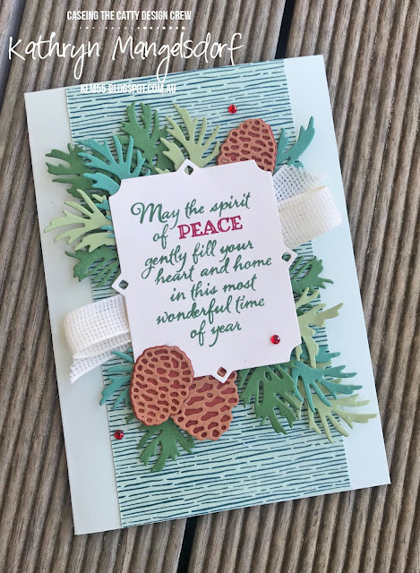 Stampin' Up! Peaceful Boughs, Beautiful Boughs Dies, Christmas Cards created by Kathryn Mangelsdorf