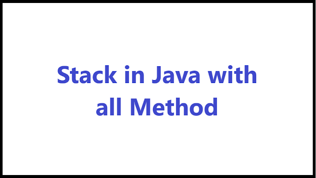 stack in java using array