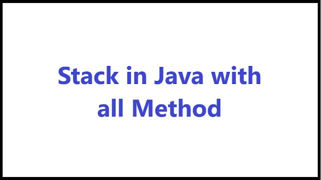 stack in java using array - Algomentor