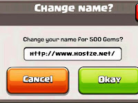 [Coming Soon] Change Your Name, Mengubah Nama Update Terbaru Clash of Clans 2015