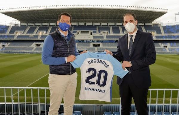 El Málaga renueva su patrocinio con Docunova