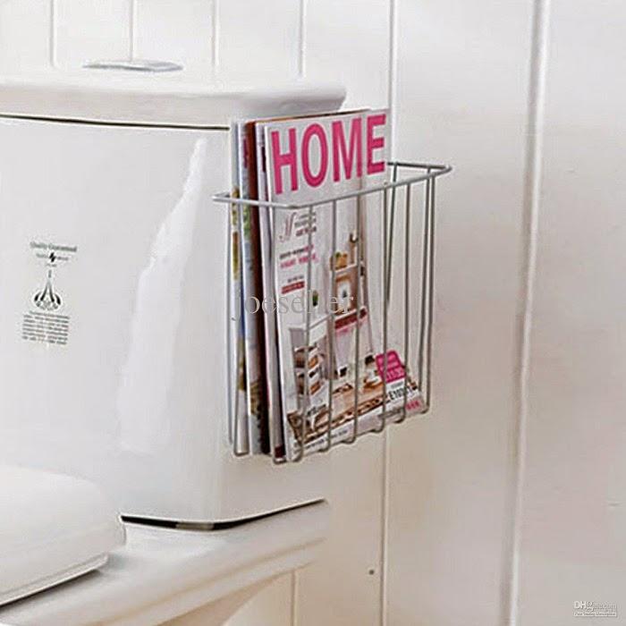 Bathing Moment With Bathroom Magazine Rack
