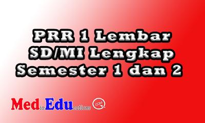 RPP 1 Lembar SD/MI lengap mudah di unduh / download