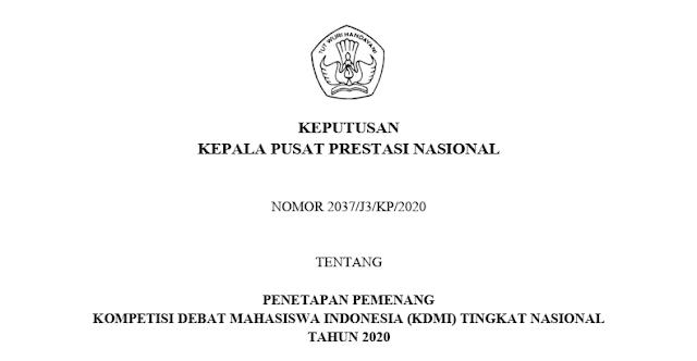 sk pemenang kdmi tahun 2020 pdf tomatalikuang.com