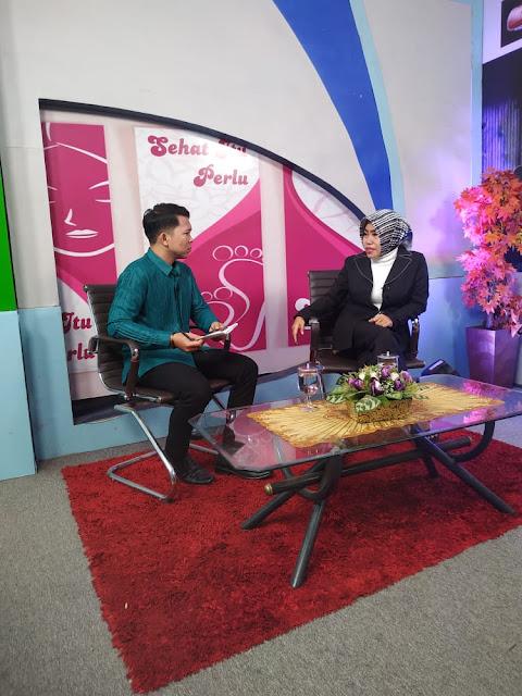dr. Zam Zanariah tampil talk show Sehat Itu Perlu (SIP) di TVRI Lampung