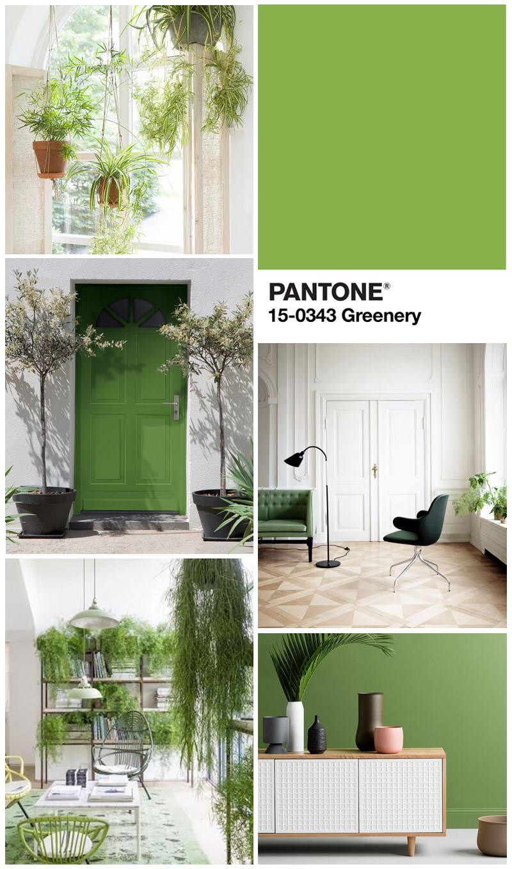 pantone greenery trend