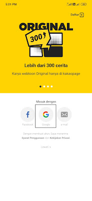 cara login dari aplikasi kakaopage android