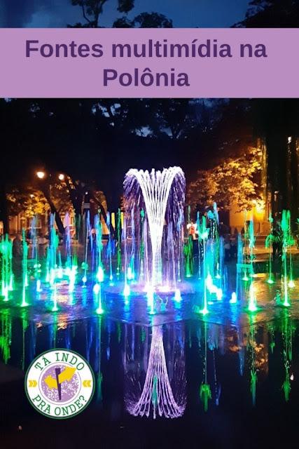 Fontes multimídia com shows de luzes e músicas na Polônia!