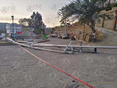 Derriban 45 videocámaras de vigilancia en Zacualpan