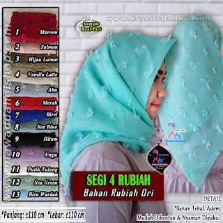 Segi empat rubiah model hijab segi4 terbaru bahan rubiah