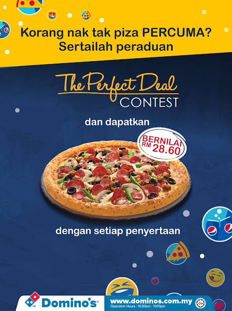 Dominos Malaysia Free Regular Pizza eCoupon Code Contest Submission