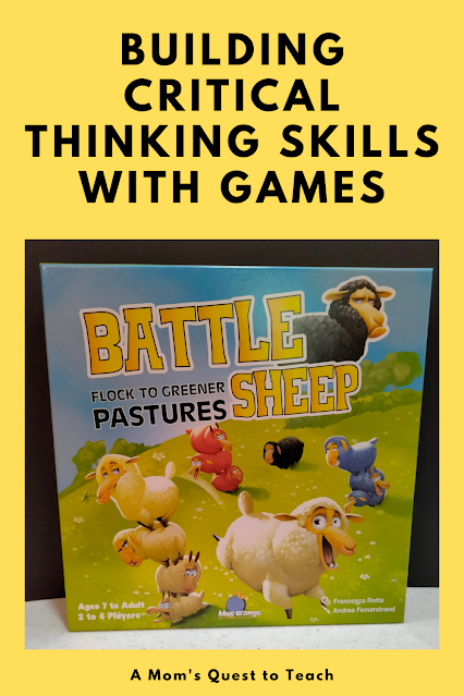 A Mom's Quest to Teach: Building Critical Thinking Skills with Games: A Review of Battle Sheep with game box