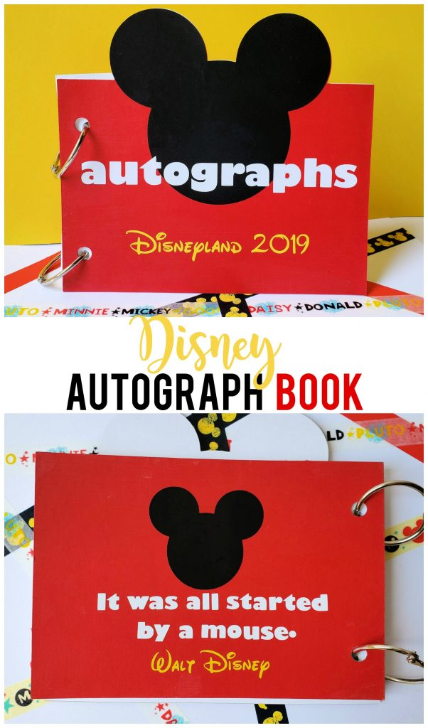 DIY Disney Autograph Book - Sunshine and Munchkins