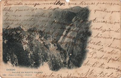 Postal de Paisaje del Puerto de Pajares. Ed. Hauser y Menet